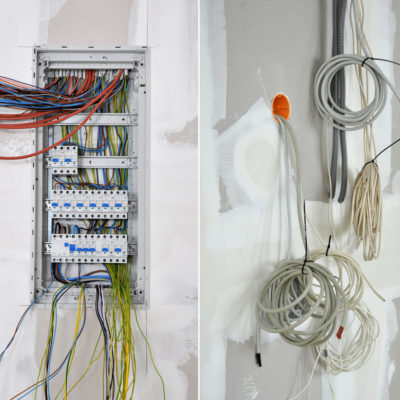 Haustechnik Stromverteiler Sicherungskasten Installation Elektrik Elektrotechnik Ottow Elektro Thomas Kiel
